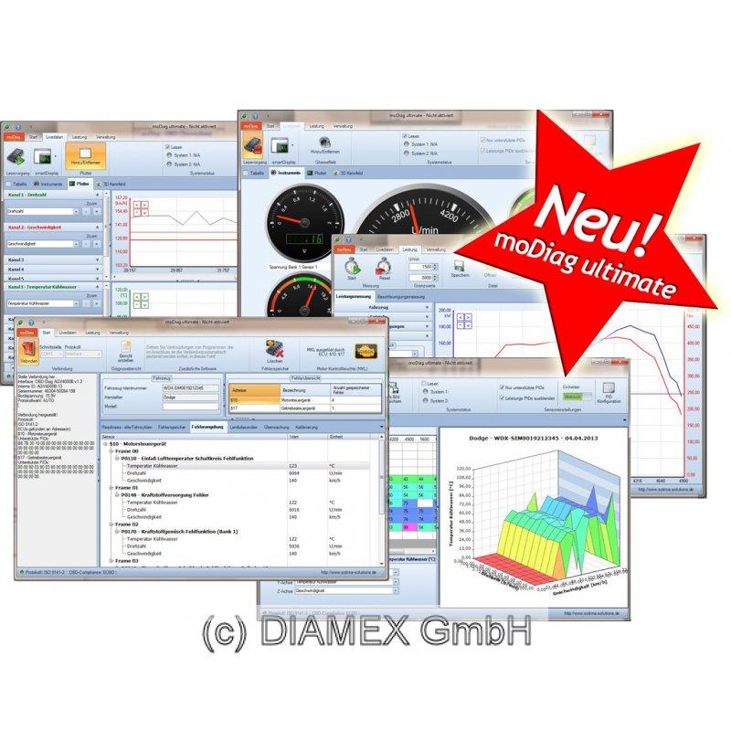 Modiag Ultimate Obd2 Software Für Profis
